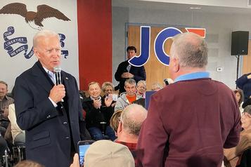 Questionné sur son fils, Biden s'emporte lors d'un rallye en Iowa