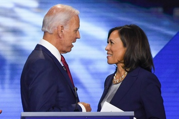 Kamala Harris sera la colistière de Joe Biden)