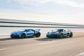 Bugatti Rimac Rimac met la main sur Bugatti)