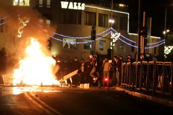 Affrontements entre la police israélienne et des manifestants palestiniens à Jérusalem)