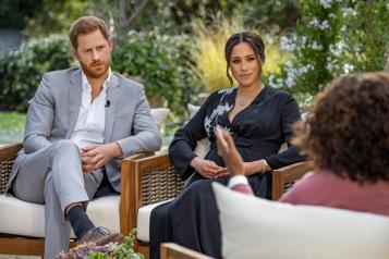 Entrevue avec Oprah Winfrey Meghan et Harry vident leur sac )
