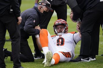 La blessure de Joe Burrow est pire qu'anticipé)