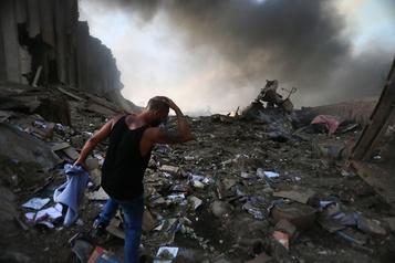 Beyrouth en deuil, les explosions ont fait 78morts et des milliers de blessés)
