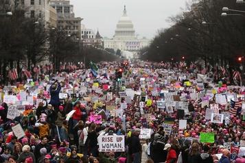 À Washington, dernière Marche des femmes avant l'élection présidentielle