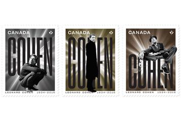 Postes Canada dévoile des timbres qui rendent hommage à Leonard Cohen
