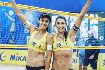 Brésil: une joueuse de volleyball de plage critiquée pour un cri anti-Bolsonaro)