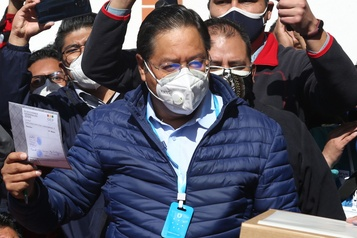Bolivie Luis Arce remporte les élections dès le 1ertour )