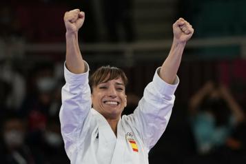 Karaté L'Espagnole Sandra Sanchez Jaime première championne olympique de l'histoire)