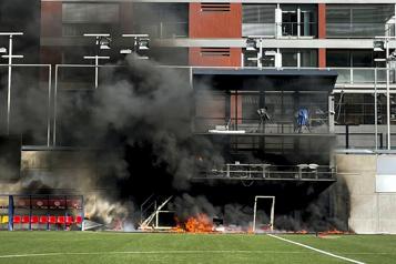 Qualifications de Coupe du monde Un incendie au stade national d'Andorre à la veille du match contre l'Angleterre