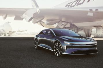 Une autonomie électrique de plus de 800km pour laLucid Air)