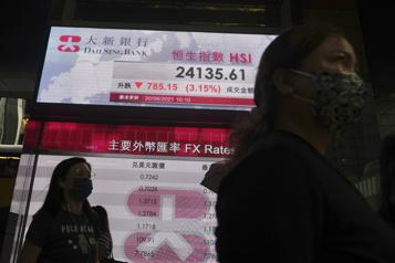 Les Bourses plombées par le risque associé à Evergrande)
