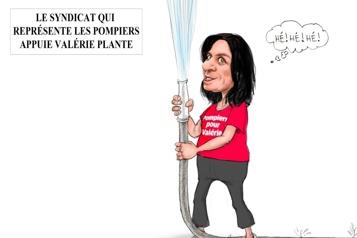 Valérie Plante et les pompiers