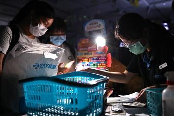 Des millions de personnes dans le noir à Taïwan)