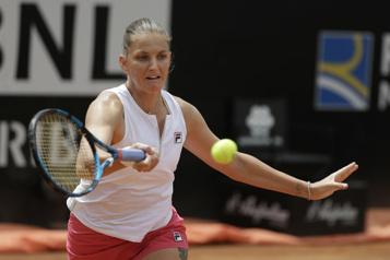 Ashleigh Barty blessée Karolina Pliskova contre Petra Martic en demi-finale à Rome)