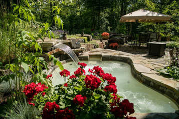 Jardin provençal dans les Laurentides)