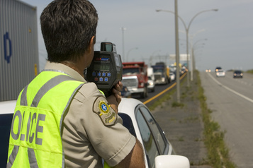 Opération contre les excès de vitesse et l'imprudence au volant partout au Québec)