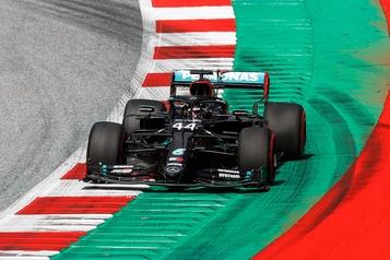 Grand Prix d'Autriche: Lewis Hamilton domine les essais libres)