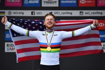 Un cycliste américain suspendu après des positions pro-Trump «clivantes»)