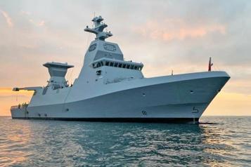 La marine israélienne prend possession d'une nouvelle corvette)