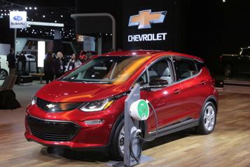 Chevrolet GM rappelle encore des Bolt électriques en raison de risques d'incendie