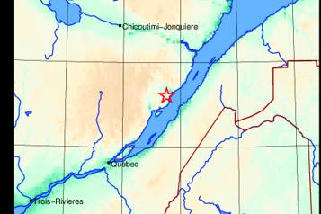 Un tremblement de terre secoue LaMalbaie)