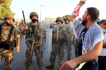 Liban: manifestation près du palais présidentiel, 40 jours après l'explosion)