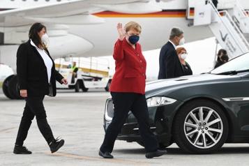 Angela Merkel en visite à la Maison-Blanche le 15juillet)