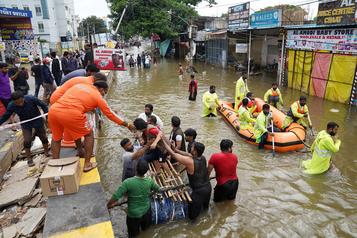 De fortes pluies font au moins 30 morts dans le sud de l'Inde)