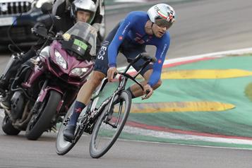 Mondiaux de cyclisme sur route Filippo Ganna remporte le contre-la-montre à Imola)