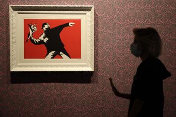 Banksy perd la marque déposée du Lanceur de fleurs)