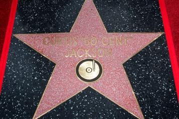 Le rappeur 50Cent reçoit son étoile à Hollywood