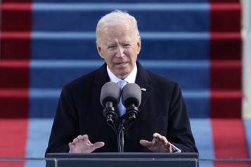 Le président Joe Biden appelle à «l'unité»)