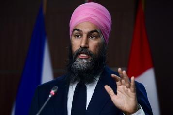 Congrès national du NPD Méfiez-vous des belles paroles des libéraux de Justin Trudeau, dit Singh)