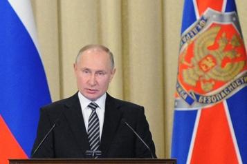 Discours devant le FSB Poutine accuse l'Occident de vouloir «enchaîner» la Russie)