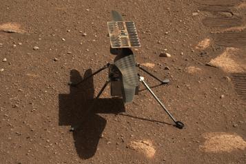 Sur Mars, le son du vol d'Ingenuity enregistré pour la première fois)
