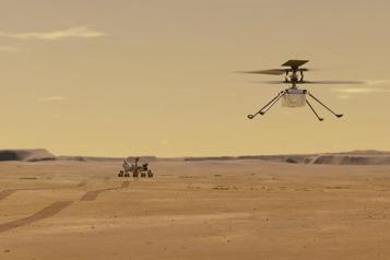 Vol sur Mars L'hélicoptère Ingenuity se détache de Perseverance)