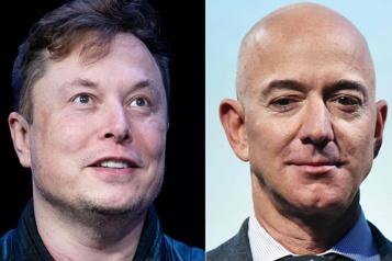 Musk et Bezos se disputent l'espace pour leurs constellations de satellites)
