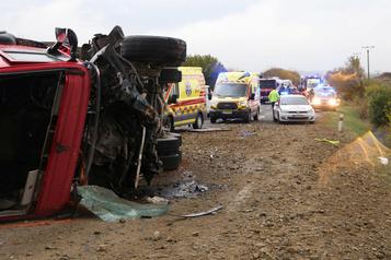 Slovaquie: au moins 12 morts dans un accident d'autobus