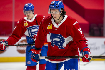 Rocket de Laval Rafaël Harvey-Pinard sur le trio de son idole Brendan Gallagher)