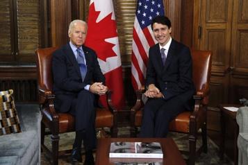 Réunion entre Biden et Trudeau mardi Chine, climat et mesures protectionnistes au menu)
