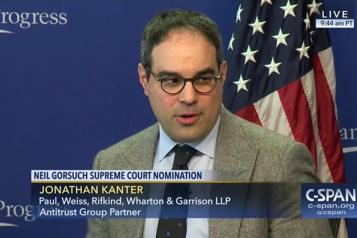 Actions antitrust Biden propose Jonathan Kanter, bête noire des géants de la tech )