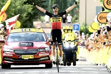 Tour de France Wout van Aert champion du Ventoux)
