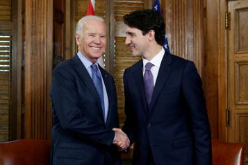 Premier échange avec un dirigeant étranger Joe Biden va s'entretenir avec Justin Trudeau vendredi)