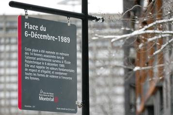 Le nouveau panneau commémoratif de l'attentat de Polytechnique inauguré