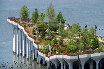 «Little Island», le nouveau parc aérien construit sur le fleuve Hudson)