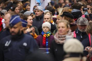 Jeunes pour le climat: 3400 manifestants à Bruxelles avec Greta Thunberg