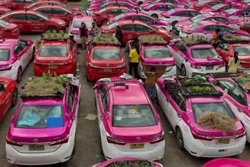 Thaïlande  Des taxis se transforment en jardin communautaire)