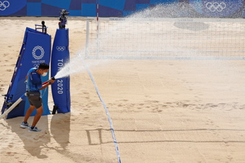 Jeux de Tokyo Le premier match de volleyball de plage annulé en raison d'un cas de COVID-19)