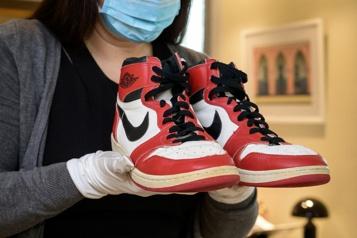Vente aux enchères La folie des chaussures portées par les sportifs chez Sotheby's)