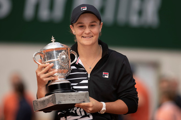 WTA: Ashleigh Barty élue joueuse de l'année
